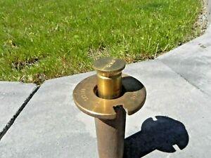 Vintage Weather-Matic Dallas TX Brass Bronze Super Pop-Up Sprinkler Head #33 NOS