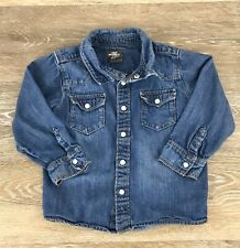 Logg HM Toddler Boys Denim Blue Shirt 12-18 Months