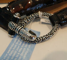 Brighton Womans Belt Cher in Brown Patent Croco Size 34