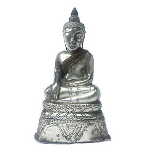 Thai Miniature Silver Buddha Image