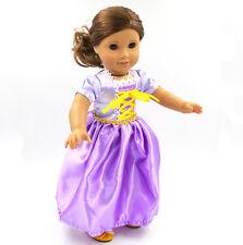 """2017 For American Girl Hot Handmade Purple  Dress18""""Doll Skirt"""