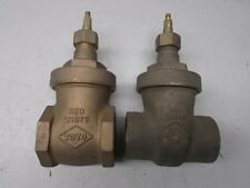 "Toyo 1-1/2"" Gate Valve Lot! One Threaded and One Socket Type"