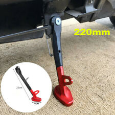 220mm Black/Red CNC Aluminum Alloy Universal Motorcycle Side Kick Stand Support