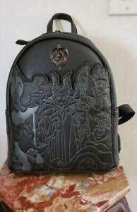Loungefly Disney Villains Full Cast Mini Backpack NWT!