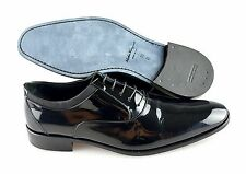 R  Men's SALVATORE FERRAGAMO 'Aiden' Patent Leather Black Loafers Size US 10- D