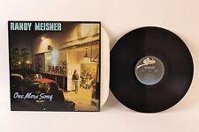 "Randy Meisner – One More Song – 12"" Vinyl LP Album – NJE 36748"