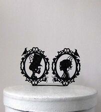 Wedding Cake Topper - Halloween Wedding Cake Topper, Skeleton Cameo Wedding Cake
