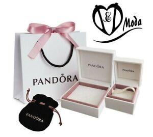 Genuine PANDORA Charm Box, Gift Bag, Velvet Pouch, gift box, Bracelets - Cream