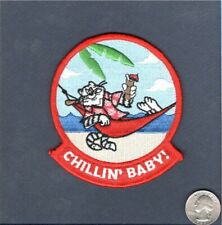 F-14 TOMCAT CHILLIN BABY US Navy Fighter Squadron VF Mascot Shoulder Patch
