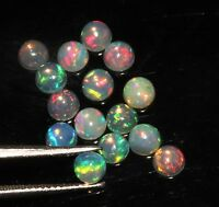 4.5 MM NATURAL AAA ETHIOPIAN FIRE OPAL CABOCHON'S CALIBRATED PLAY OF COLOR