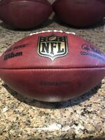 Official Wilson NFL The Duke On Field Game Used Washington Redskins Football