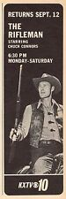 1966 KXTV TV AD~CHUCK CONNERS is THE RIFLEMAN~WESTERN TELEVISION SERIES