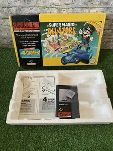 NINTENDO SNES - SUPER MARIO ALL STARS BOX AND INSERT ONLY