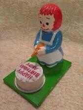 1970's RAGGEDY ANN Happy Birthday Andy Cake Vanity Fair Figure Metal Cast Iron