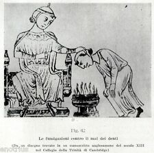 LE FUMIGAZIONI CONTRO IL MAL DI DENTI. DENTISTA. Dentiste. Dentist.Zahnarzt.1929