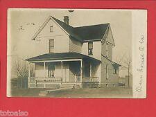 RPPC LIMA OHIO OH HOUSE 1908 IRENE BASS BELLEFONTAINE  REAL PHOTO  POSTCARD