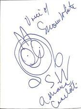 "Adriana Caselotti Hand Drawn Sketch on 8"" x 11"" Cardboard Signed with COA"