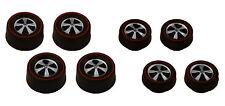 8 Brightvision Redline Wheels – 4 Small & 4 Medium Deep Dish Dull Chrome Style