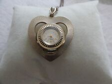 "Vintage Swiss Made ""Heart"" Caravelle Mechanical Wind Up Necklace Pendant Watch"