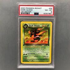 PSA 8 NM - MT Dark Gloom 1st edition Team Rocket - 2000 Pokémon Card