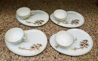 Fukagawa ARITA 8 PC Coffee / Tea Set; Pine Cone Needles Gold Accents; Japan