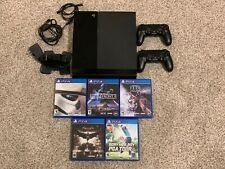 Sony PlayStation 4 500GB Jet Black Console Bundle w/2 Controllers, 5 Games