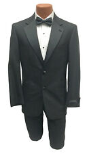New Men's Black Giorgio Bissoni Tuxedo with Pants Wedding Prom Mason 43 Regular