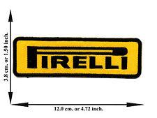 Yellow Pirelli Motorcycle Biker Vehicle Racing Logo Applique Iron on Patch Sew