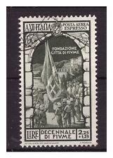 REGNO 1934 - FIUME ESPRESSO AEREO Lire 2,25   USATO