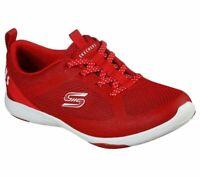Shoes Skechers Red Memory Foam Women Slip On Comfort Casual Sport Walking 104028