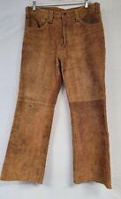 Vintage Levis Suede Leather Pants Big E Brown Tab Western 33 X 30 Talon 60s 70s