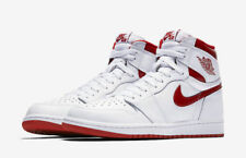 Mens Air Jordan 1 Retro Higt OG 555088-103 White/Varsity Red Brand New Size 12