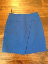 J. Crew Royal Blue Skirt With Asymmetrical Front Vent, Size 0, NWT!