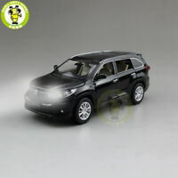 1/32 Jackiekim Toyota Highlander 2015 Diecast Car SUV Model Toys Kids Pull Back