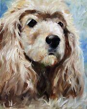 MARY SPARROW SMITH Cocker Spaniel Dog Art Oil Painting Decor PRINT MSSMITH