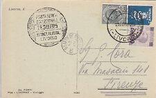 REGNO-POSTA AEREA ECCEZIONALE LIVORNO 28.6.1925+PUBBLICITARIO 15c(1)+30c(180)