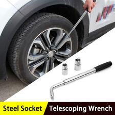 Adjustable Lug Nut Wrench with Socket Wheel Tire Change (17/19MM) & (21/23MM)