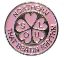 Northern Soul That Beatin Rhythm Pink Music MOD Metal Enamel Scooterist Badge