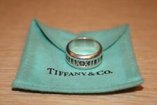 TIFFANY & Co. Atlas 925 Sterling Silver Ring Roman Numerals Size 7 w/ Pouch