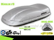 GG8 BAULE BOX PORTAPACCHI AUTO FARAD MARLIN F3 400LT GRIGIO SATINATO
