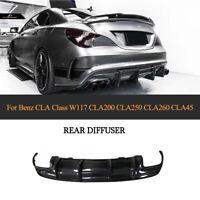 Carbon Fiber Rear Bumper Lip Diffuser For  Benz W117 CLA250 CLA45AMG 16-19