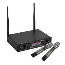 Wireless Microphones For Karaoke UHF 2 Handheld Microphone Cordless Mic Set Y8F9