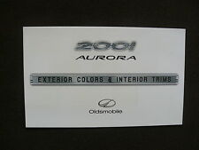 Oldsmobile 2001 aurora-exterior Colors-us-folleto brochure 1999 EE. UU.