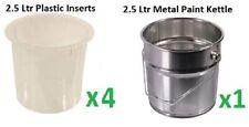 Metal Tin, 2.5L, Plastic Inserts, Painting Tools, DIY