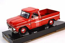 CHEVROLET C10 FLEETSIDE PICKUP 1966 MOTORMAX 73355 1:24 NEW DIECAST RED