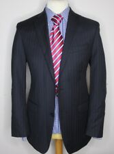 CALVIN KLEIN MAINLINE LUXURY SUIT STRIPED NAVY CLASSIC FIT 38x34x30.5