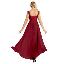 #12 Womens Long Maxi Ball Gown Formal Bridesmaid Dresses Evening Party Costume