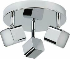 Searchlight Quad 3-Ligh LED Ceiling Spotlight Plate, Chrome