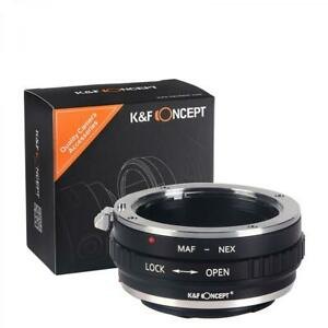 K&F Concept Sony A to E mount adapter for use with Minolta AF A-mount MAF lens