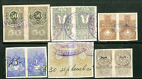Germany Stamps 12 Locals In Pairs Neat Lot